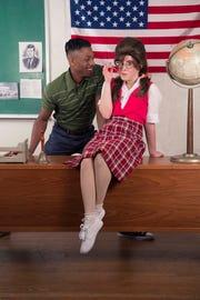 """Seaweed J. Stubbs (Aaron McKenzie) tries to charm Penny Pingleton (Lannie Rubio) in """"Hairspray."""""""