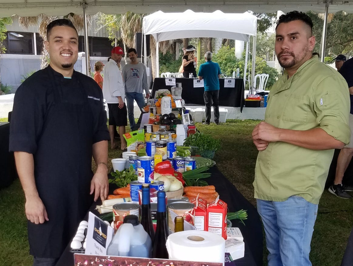 Chefs pose at the pantry during the fifth annual Stuart Chopped competition in 2019.