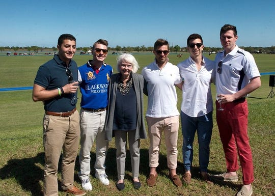 Molly's House Polo Classic is sponsored by the Herold-Cadorette Family, represnted here by Craig Rosen, Stephen Cadorette, Betsy Herold, Phil Cadorette, John Culhane and Brad Simkin.