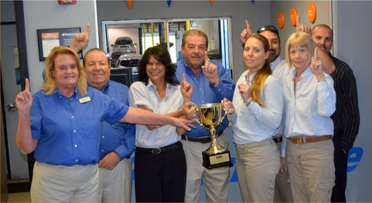 Velde Ford, 488 U.S. 1 in Vero Beach, was voted No. 1 out of 58 regional Ford dealers by the Ford Motor Company.
