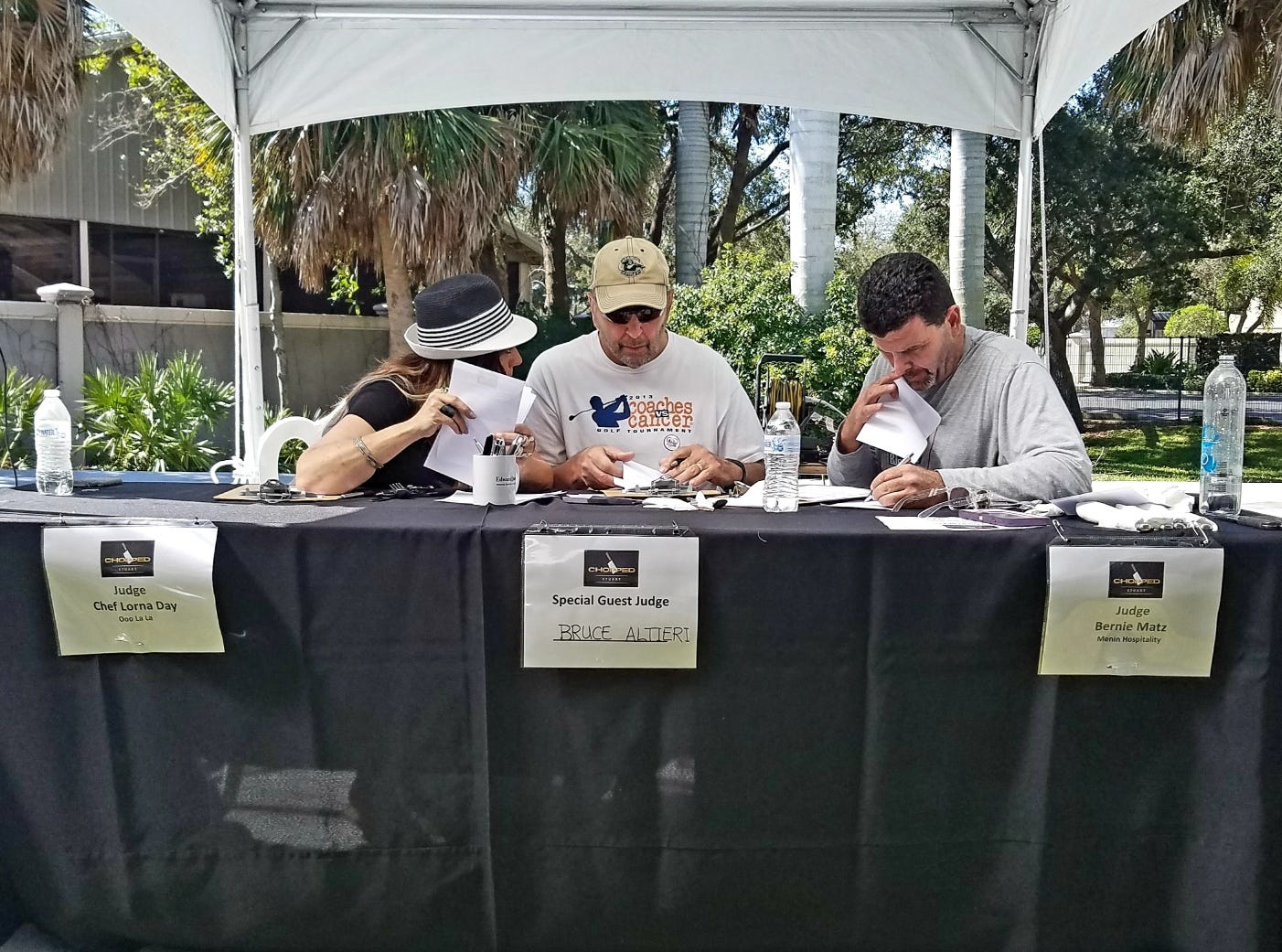 The judges' table at Stuart Chopped in 2019.