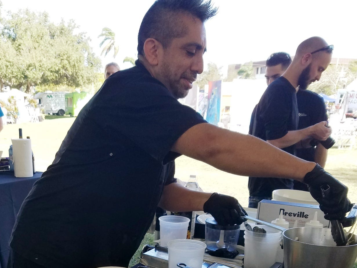 Chef Aldo Ramirez at the 2019 Stuart Chopped competition
