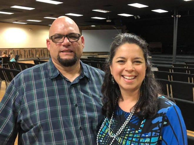 Kim Baumgardner (right) and husband Pastor Jason Baumgardner