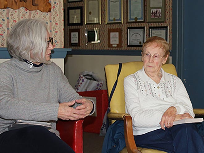 """The Millville Woman's Club held a discussion of """"How to Be Married"""" by Jo Piazza in January. Debora Michel (left) and Helen Vanaman were among the participants. """"The Girl with Seven Names: Escape from North Korea"""" will be discussed at 1:30 p.m. Feb. 26 at the clubhouse at 300 E St., Millville."""