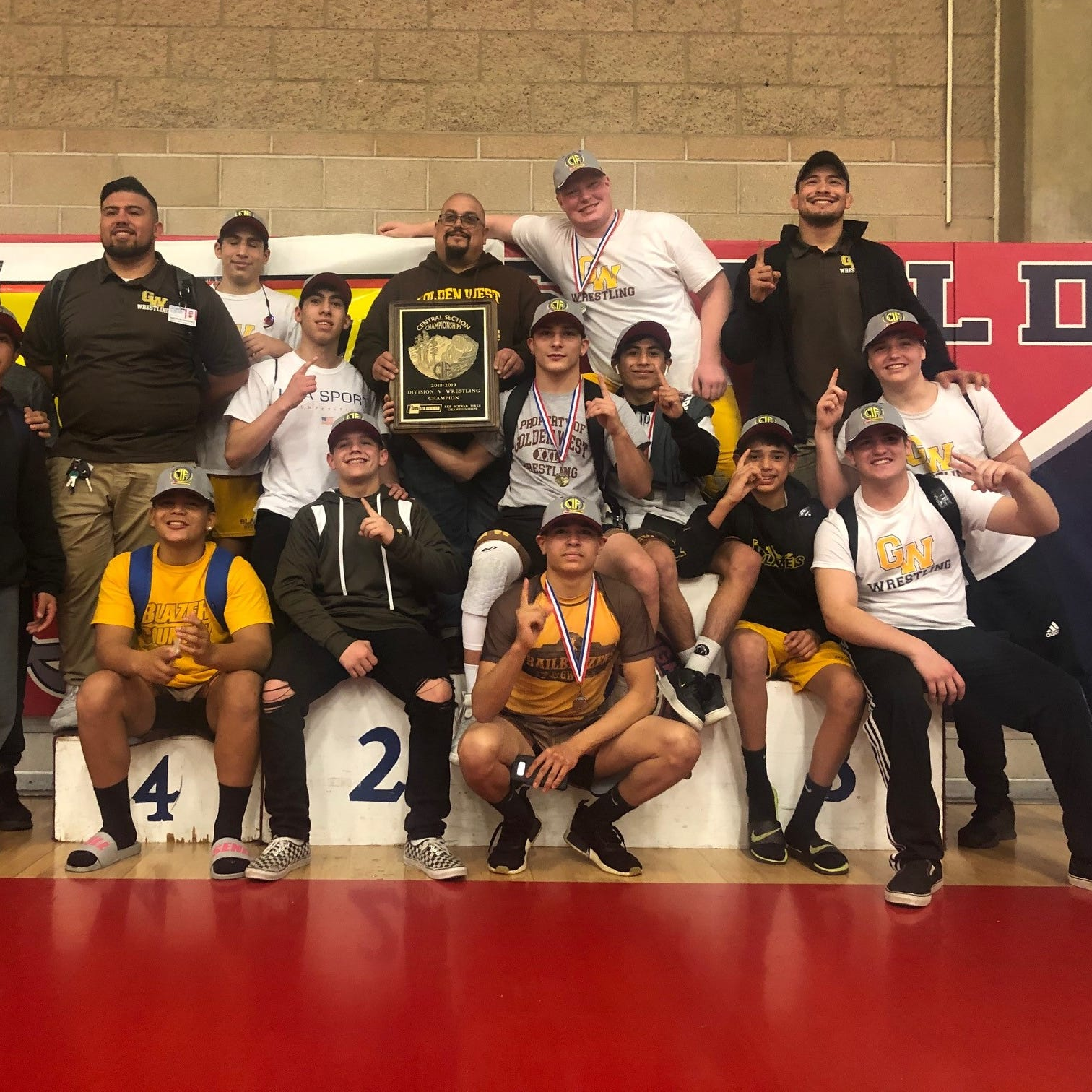 Golden West wrestling makes school history