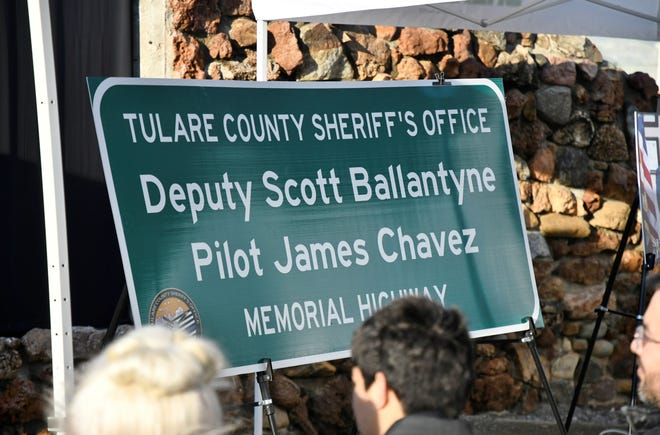 On Sunday, Sheriff Mike Boudreaux unveiled the Deputy Scott Ballantyne and Pilot James Chavez Memorial Highway at Lake Success.