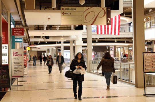 Shoppers at Palisades Center mall in West Nyack Feb. 11, 2019.