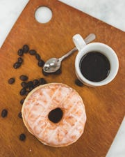 A glazed doughnut from White Plains-based MAD Donuts is one way to start your day.