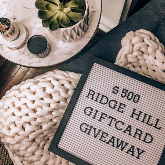 Win a $500 gift card to Ridge Hill.