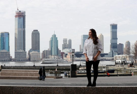 Monica Malarczyk, 25, of Hastings-on-Hudson, photographed at Battery Park City in Manhattan Feb. 10, 2019, is a student at the Institute of Culinary Education. Malarczyk, along with her brother and sister, survived a car crash in 2015 the took the lives of both her parents.