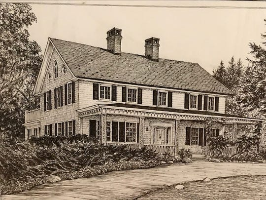 Drawing of 31 Mamaroneck Road in Scarsdale.