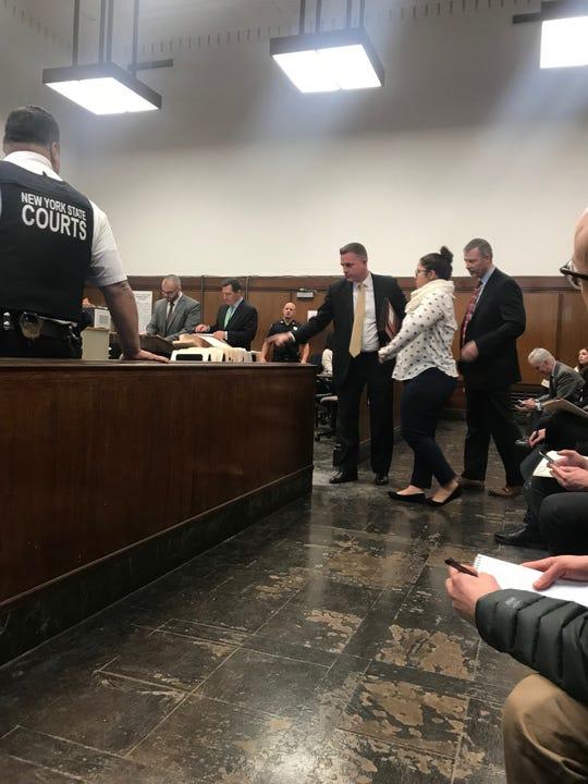 Jennifer Lopez, 18, of Manhattan, appearing at Manhattan Criminal Court on Monday.