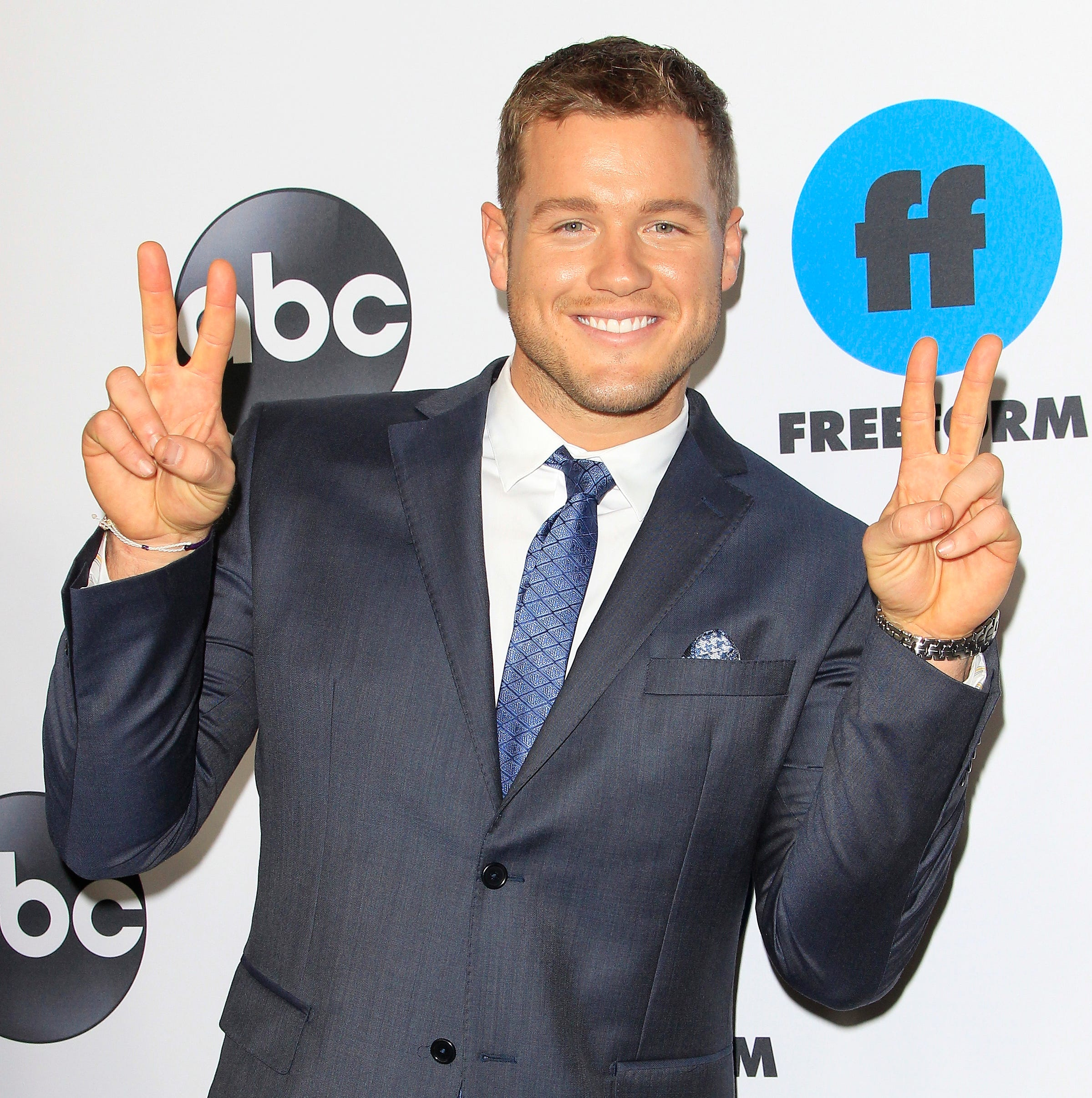 epa07347184 Colton Underwood arrives for the Disney and ABC Television 2019 TCA Winter press tour at The Langham Huntington Hotel and Spa in Pasadena, California, USA, 05 February 2019.  EPA-EFE/NINA PROMMER ORG XMIT: NPX01