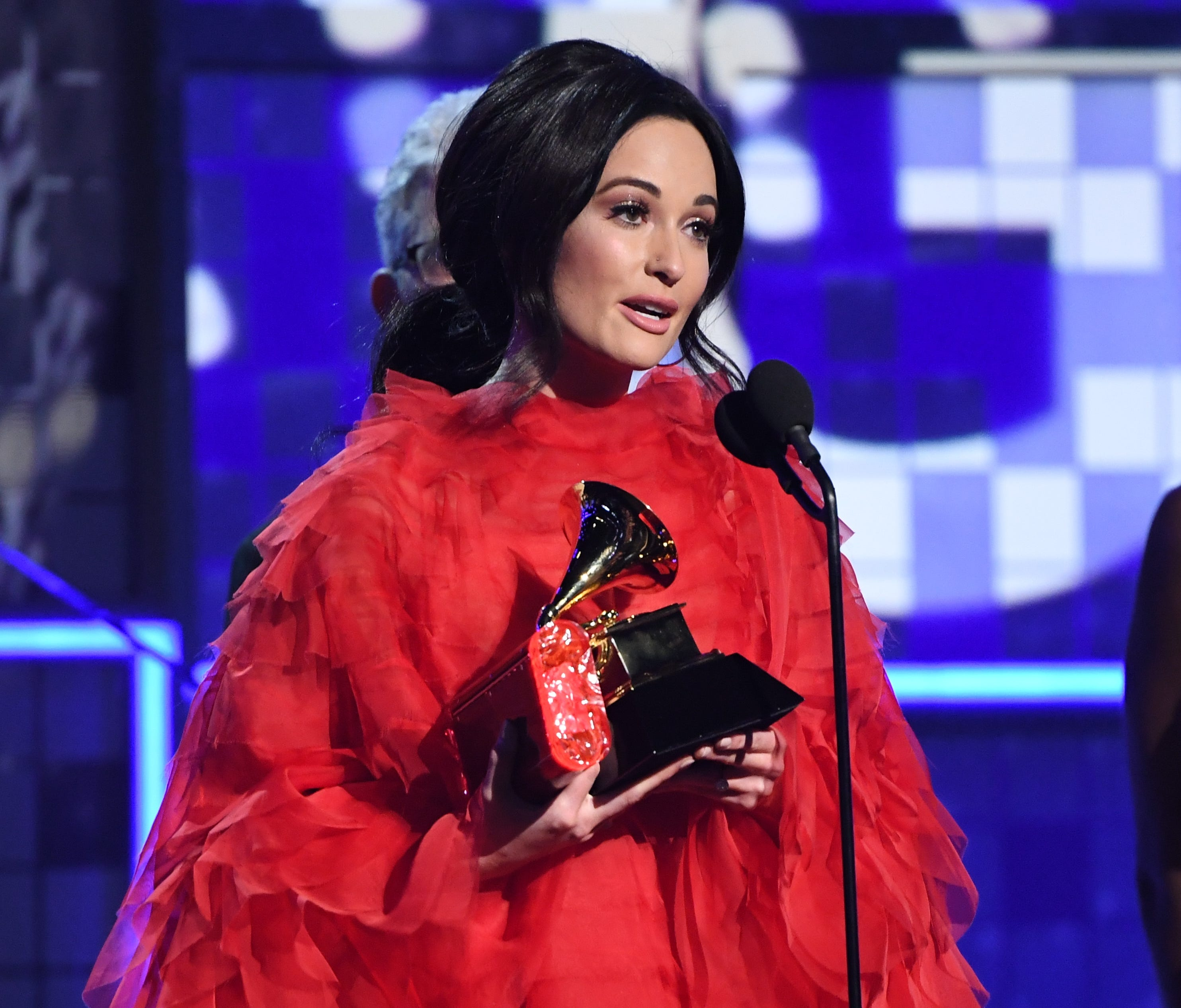 "Kacey Musgraves accepts the award for album of the year for ""Golden Hour."""