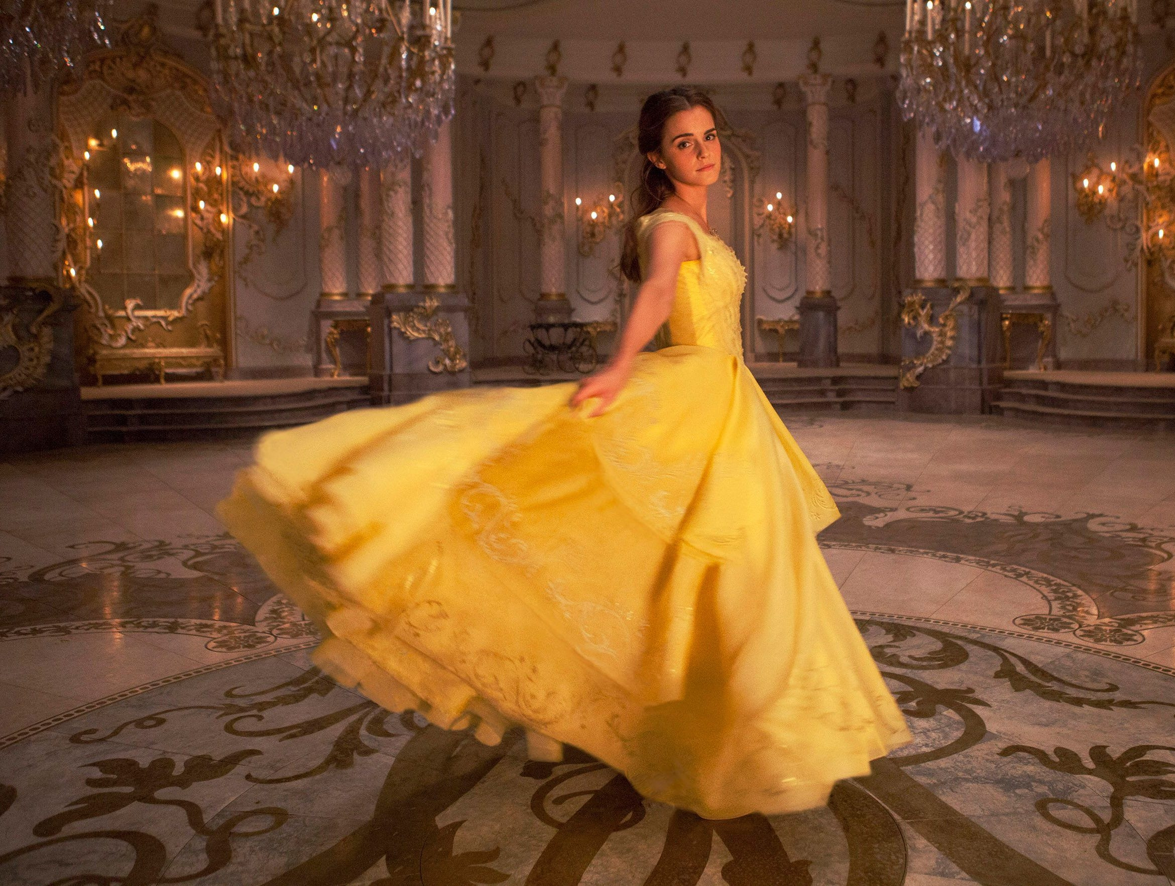 """In 2017, Watson took a turn around the ballroom as Belle in Disney's live version of """"Beauty and the Beast."""""""