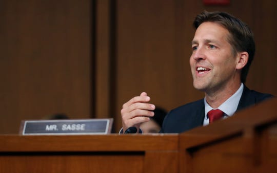 Sen. Ben Sasse, R-Neb., on Capitol Hill in Washington, D.C., Sept. 6, 2018.