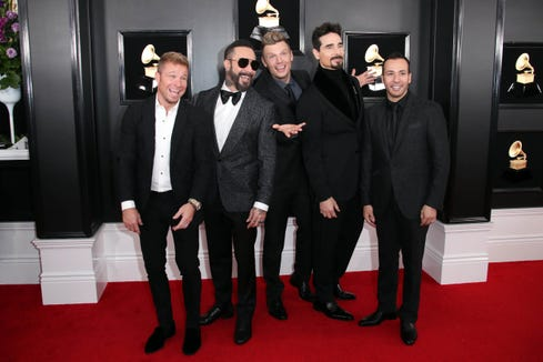 The Backstreet Boys hit the Grammys red carpet with some solid Valentine's Day advice.