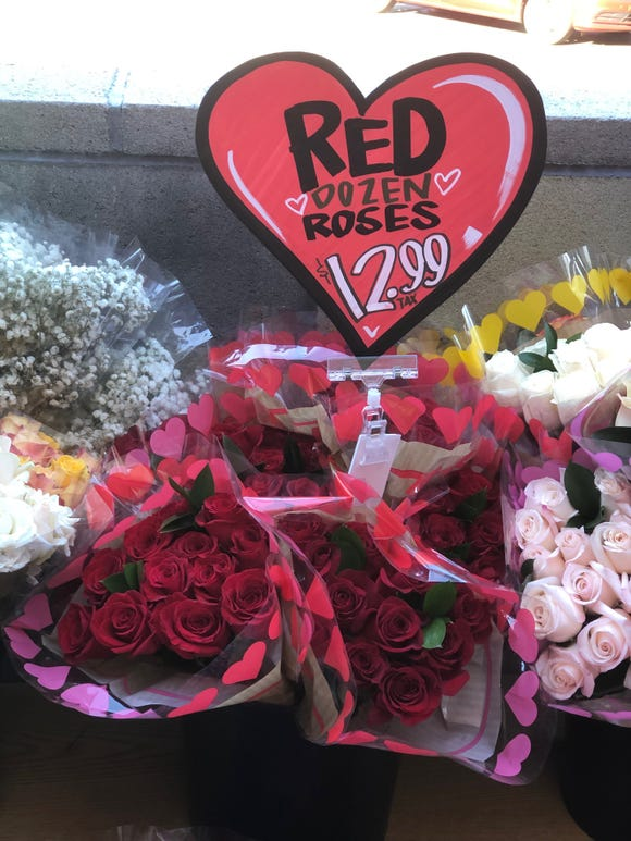 Red roses for sale at Trader Joe's