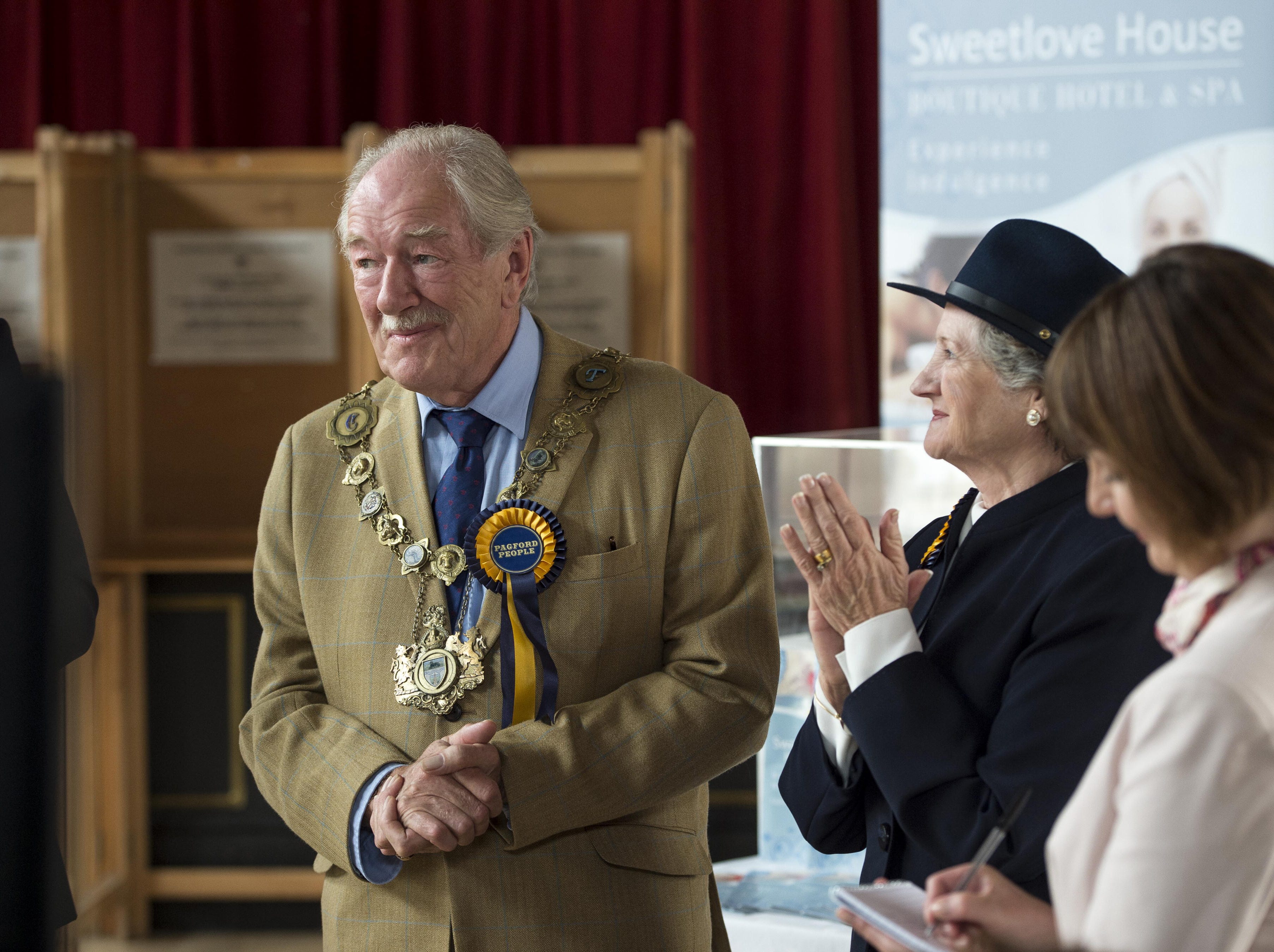 """Gambon took on the role of Howard Mollison in the HBO miniseries """"The Casual Vacancy,"""" which was also based on a book by """"Potter"""" author J. K. Rowling."""