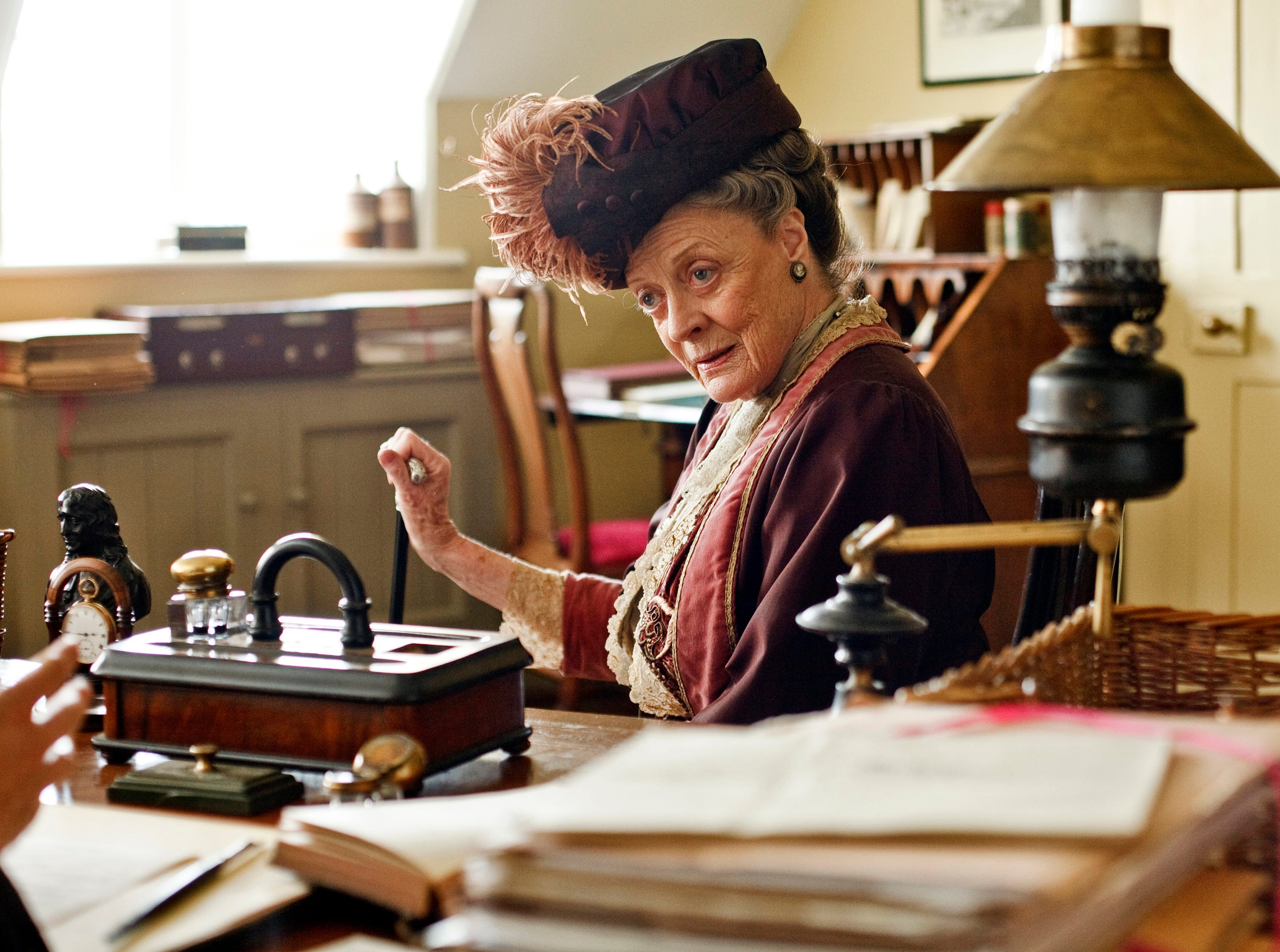 """Smith played another strict, by-the-book character as the Dowager Countess of Grantham on """"Downton Abbey."""""""