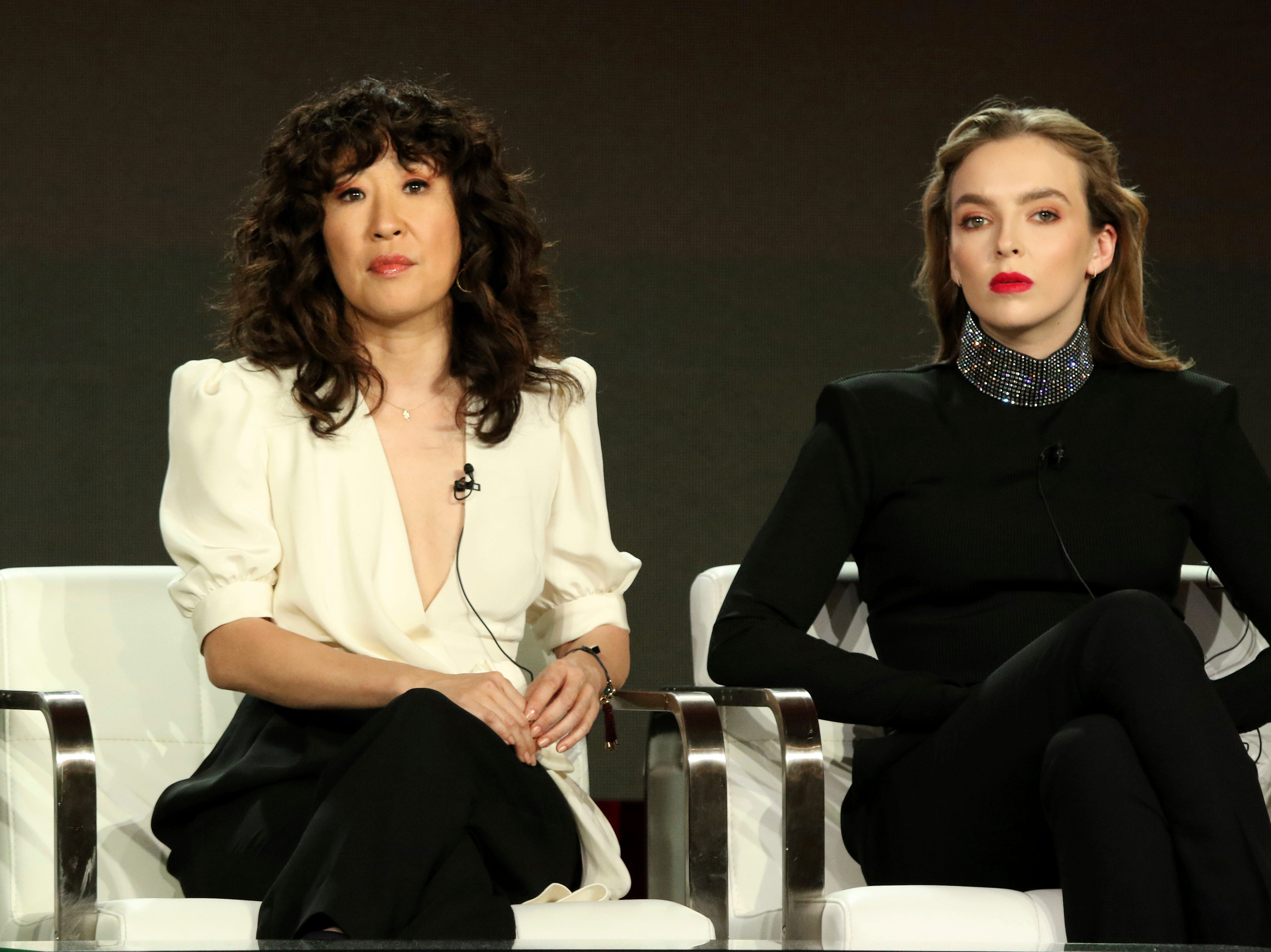 """Sandra Oh and Jodie Comer take questions about BBC America's """"Killing Eve."""""""