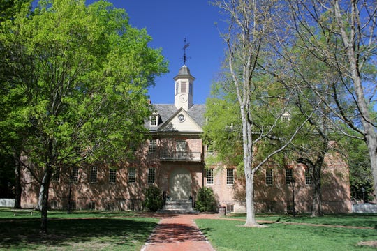 The Wren Building on the campus of the College of William & Mary in Williamsburg, Va.