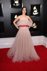 Kacey Musgraves on the red carpet at the Grammys.