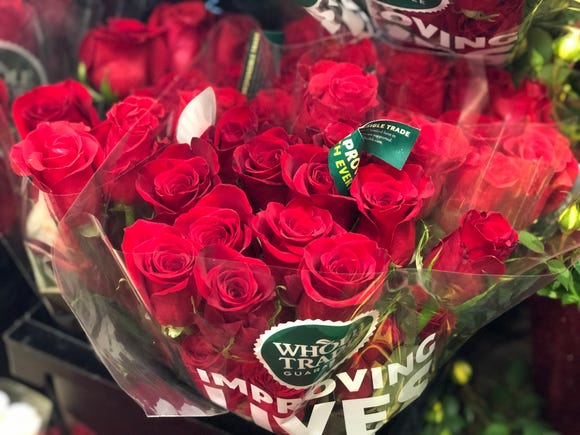 Red roses from Whole Foods