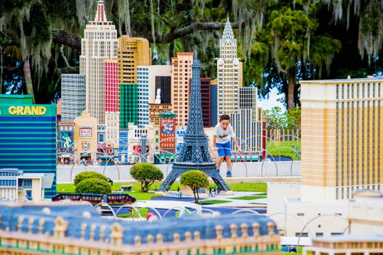 Miniland presents iconic landscapes from around the world, built out of millions of Lego bricks.