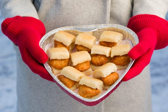 Chick-fil-A has heart-shaped containers through Feb. 28.