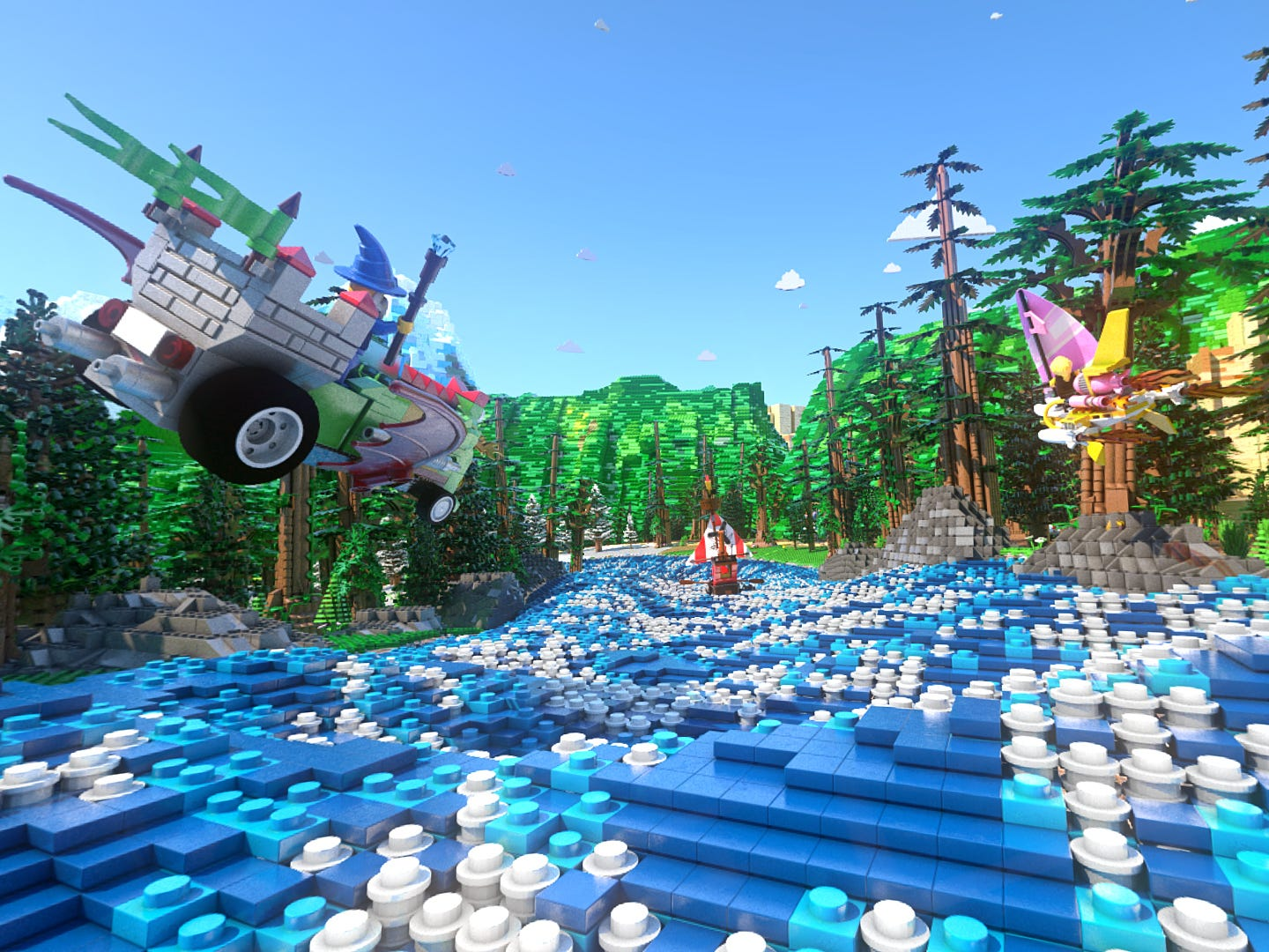 The Great Lego Race incorporates a virtual reality experience.