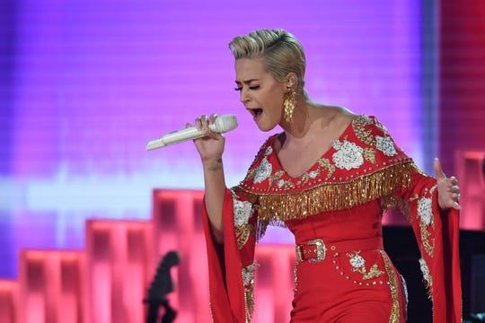Katy Perry performs during the 61st Annual Grammy Awards on Feb. 10, 2019, in Los Angeles.