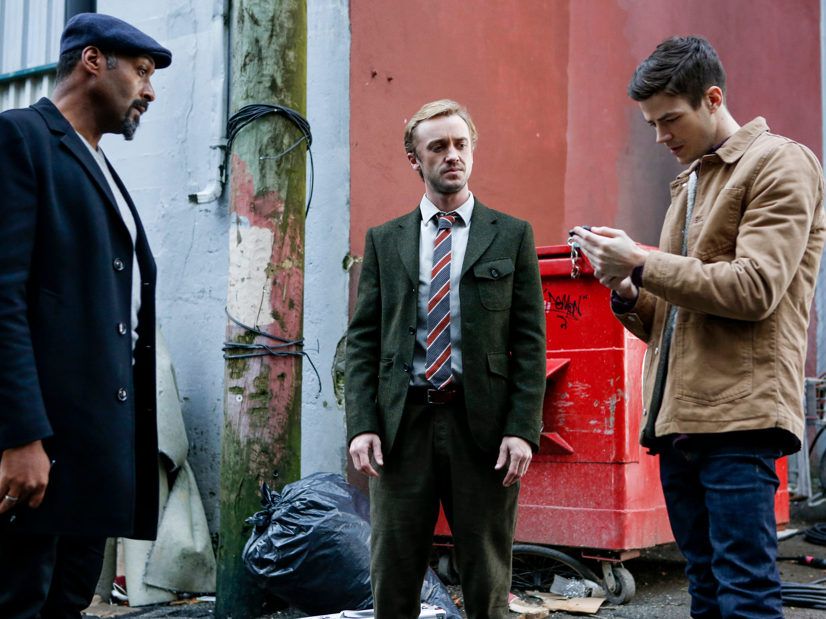 """Felton (with Jesse L. Martin, left, and Grant Gustin, right) had a season-long arc as Julian Albert on CW's """"The Flash."""""""