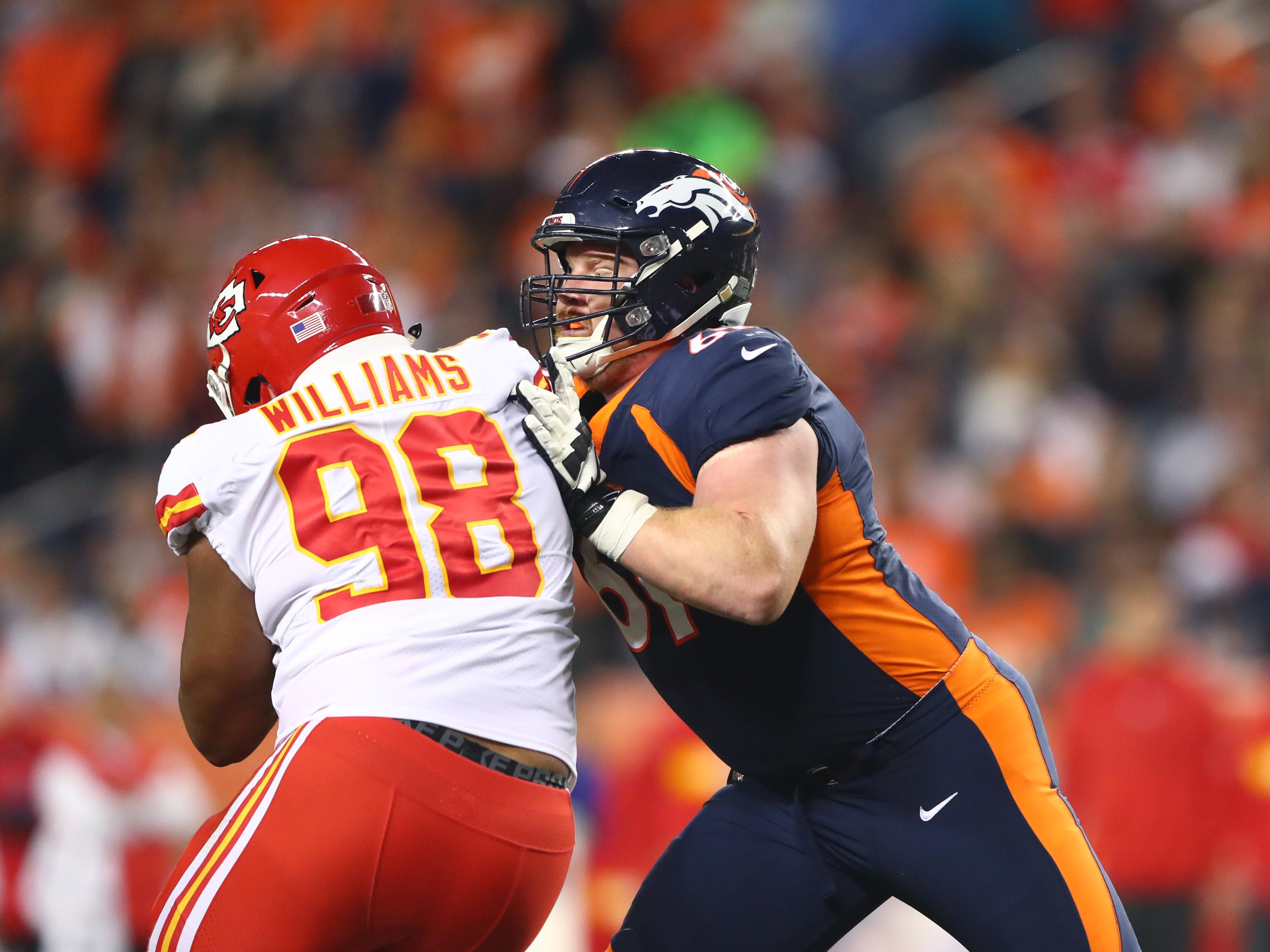 7. Matt Paradis, C, Broncos: Agreed to deal with Panthers