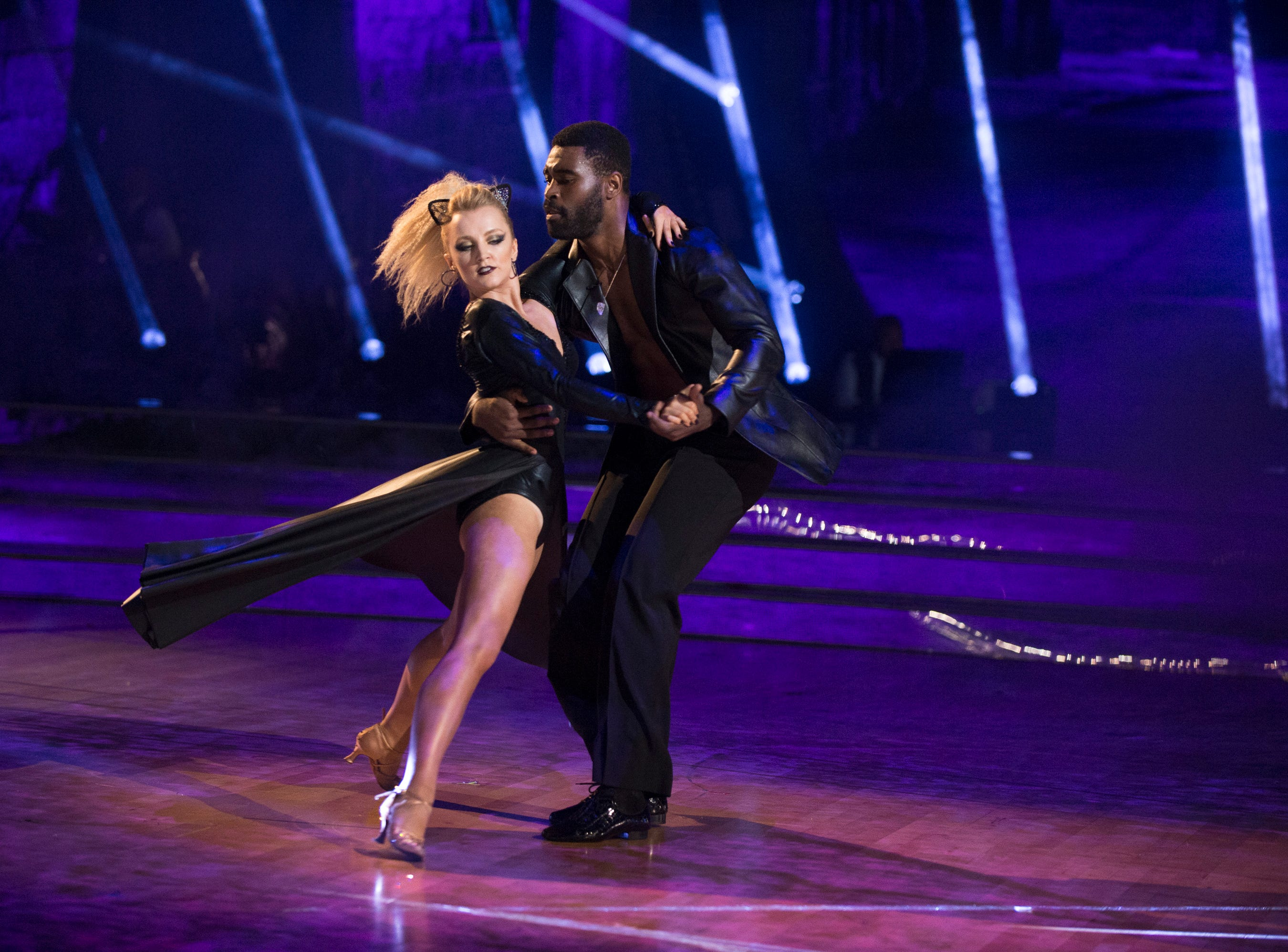 """Lynch took a turn around the ballroom on the 27th season of ABC's """"Dancing With the Stars"""" with her professional dance partner Keo Motsepe."""