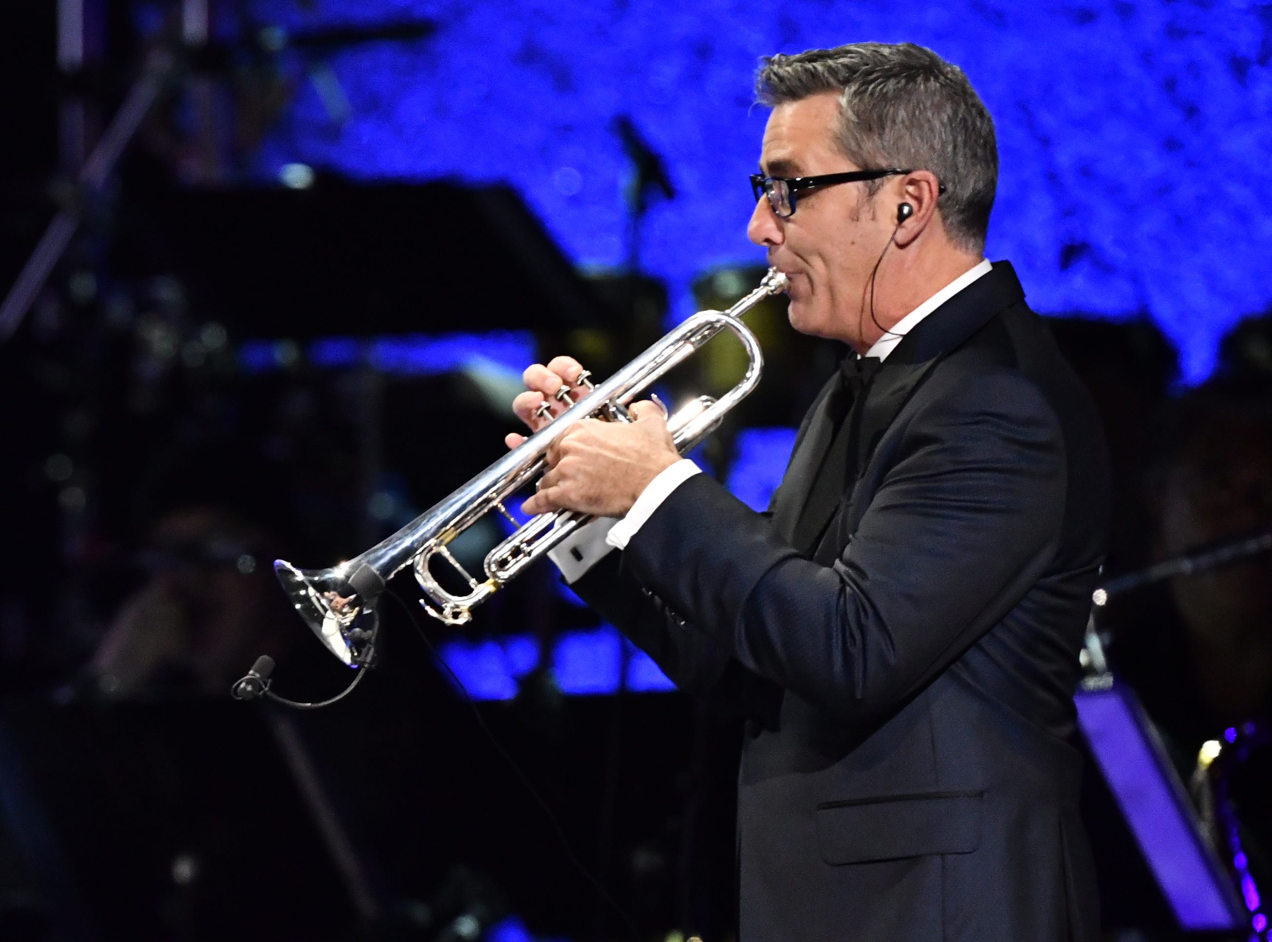 Trumpeter Craig Morris performs at the Grammy Awards Premiere Ceremony.