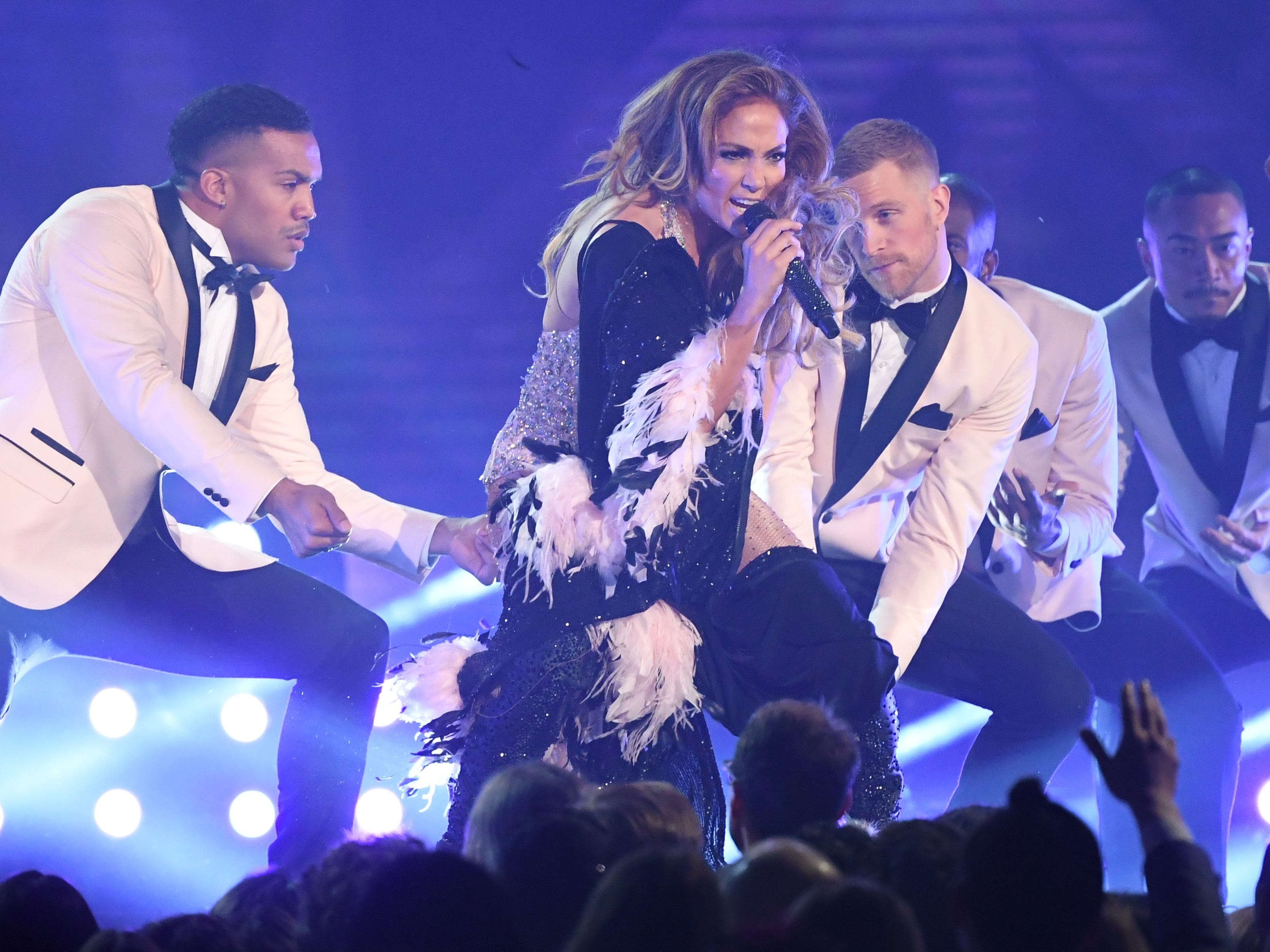 Jennifer Lopez performs during the Motown tribute segment.