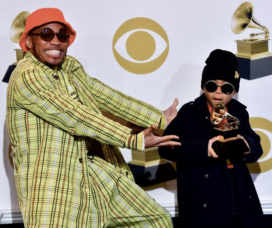"""Anderson .Paak won a Grammy Feb. 10 for best rap performance for """"Bubblin,"""" and shared the win with his son, Soul Rasheed."""