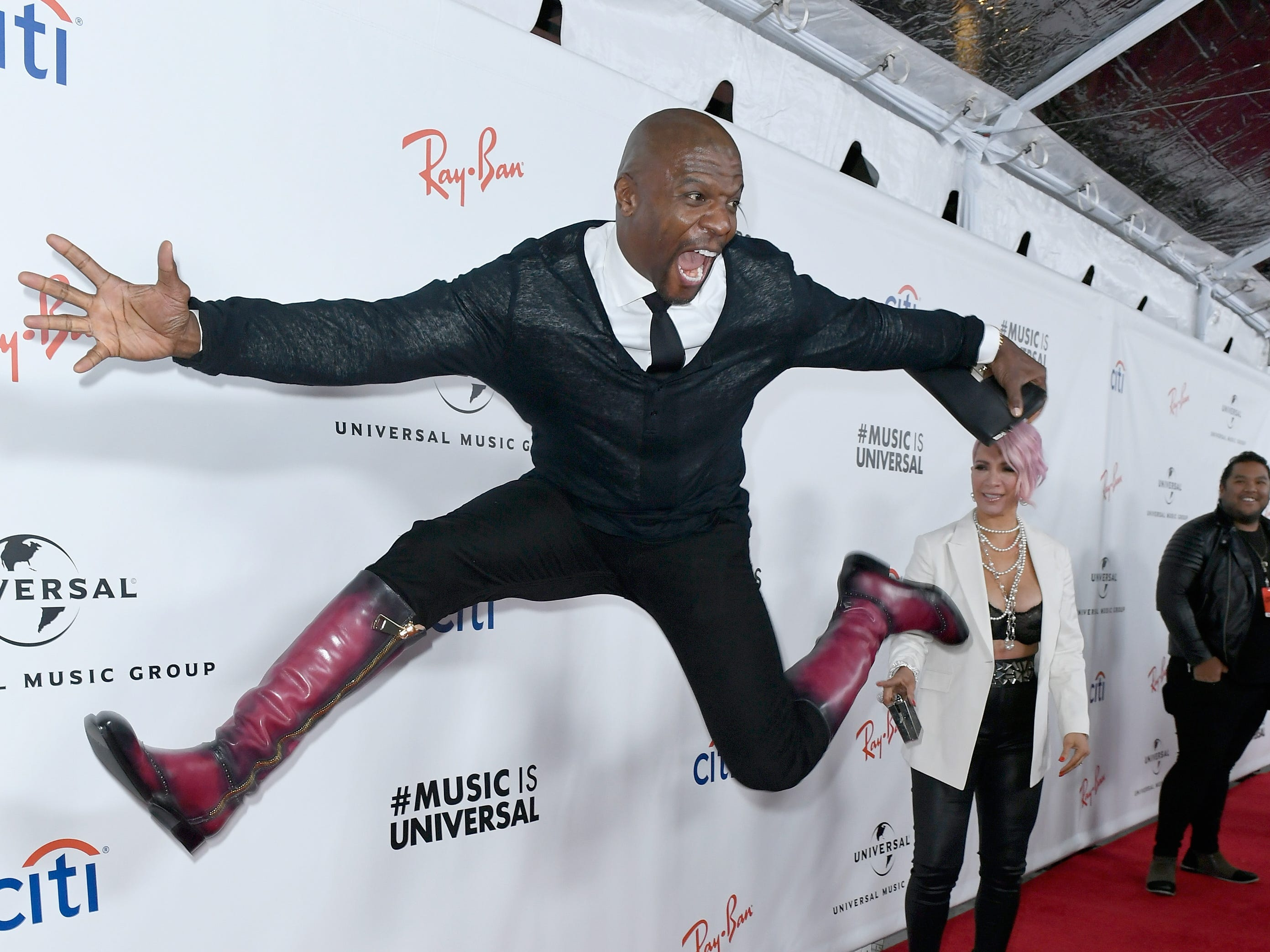 Terry Crews attends Universal Music Group's Grammys 2019 after party on Feb. 10, 2019 in Los Angeles.