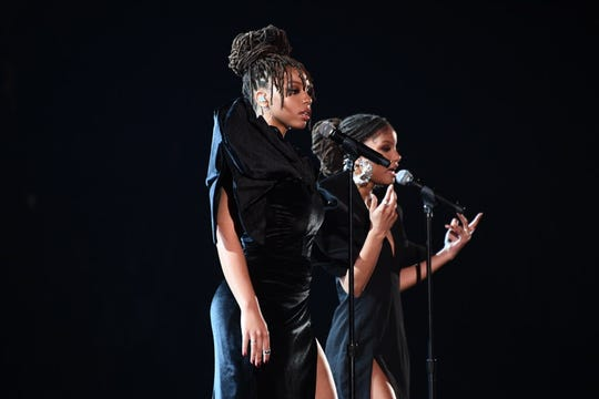 Chloe x Halle perform at the Grammys.
