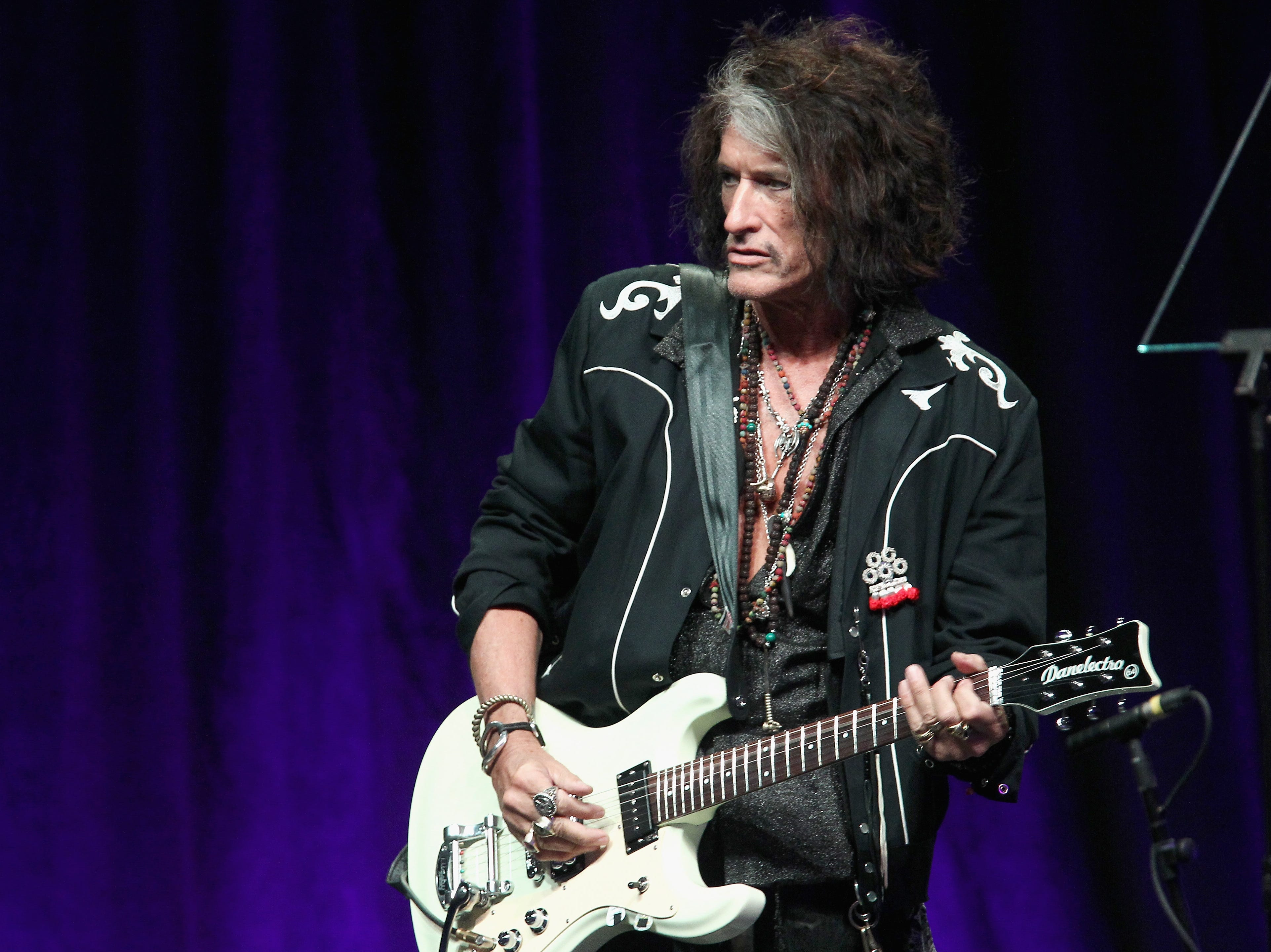 LOS ANGELES, CA - FEBRUARY 10:  Joe Perry onstage at Steven Tyler?s Second Annual GRAMMY Awards Viewing Party to benefit Janie?s Fund presented by Live Nation at Raleigh Studios on February 10, 2019 in Los Angeles, California.  (Photo by Tommaso Boddi/Getty Images for Janie's Fund) ORG XMIT: 775294826 ORIG FILE ID: 1097754008