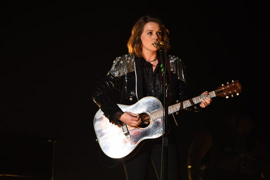 "Brandi Carlile performs ""The Joke""  at the Grammys."