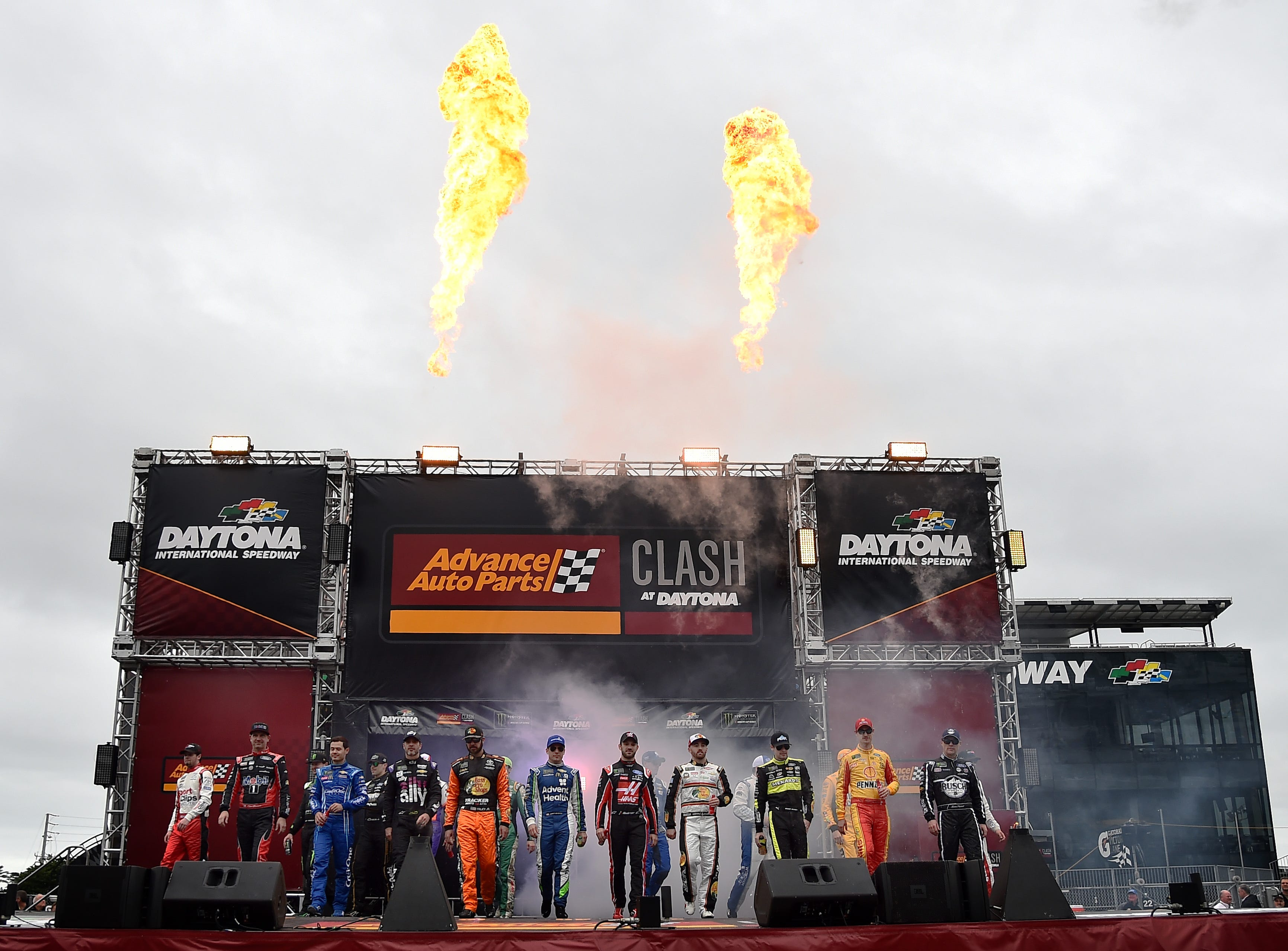 Feb 10: The Advance Auto Parts Clash drivers are introduced at Daytona International Speedway