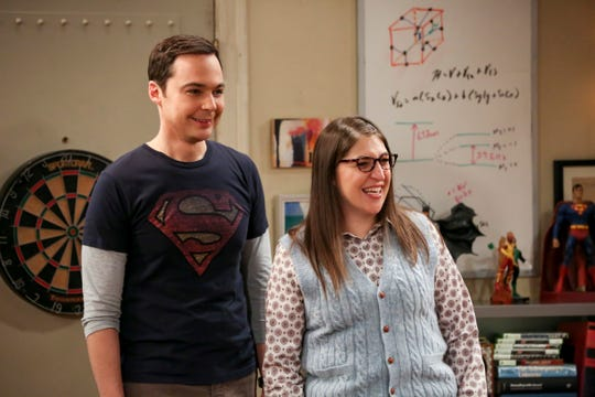 Bialik with co-star Jim Parsons, who plays Sheldon Cooper on the CBS sit-com.