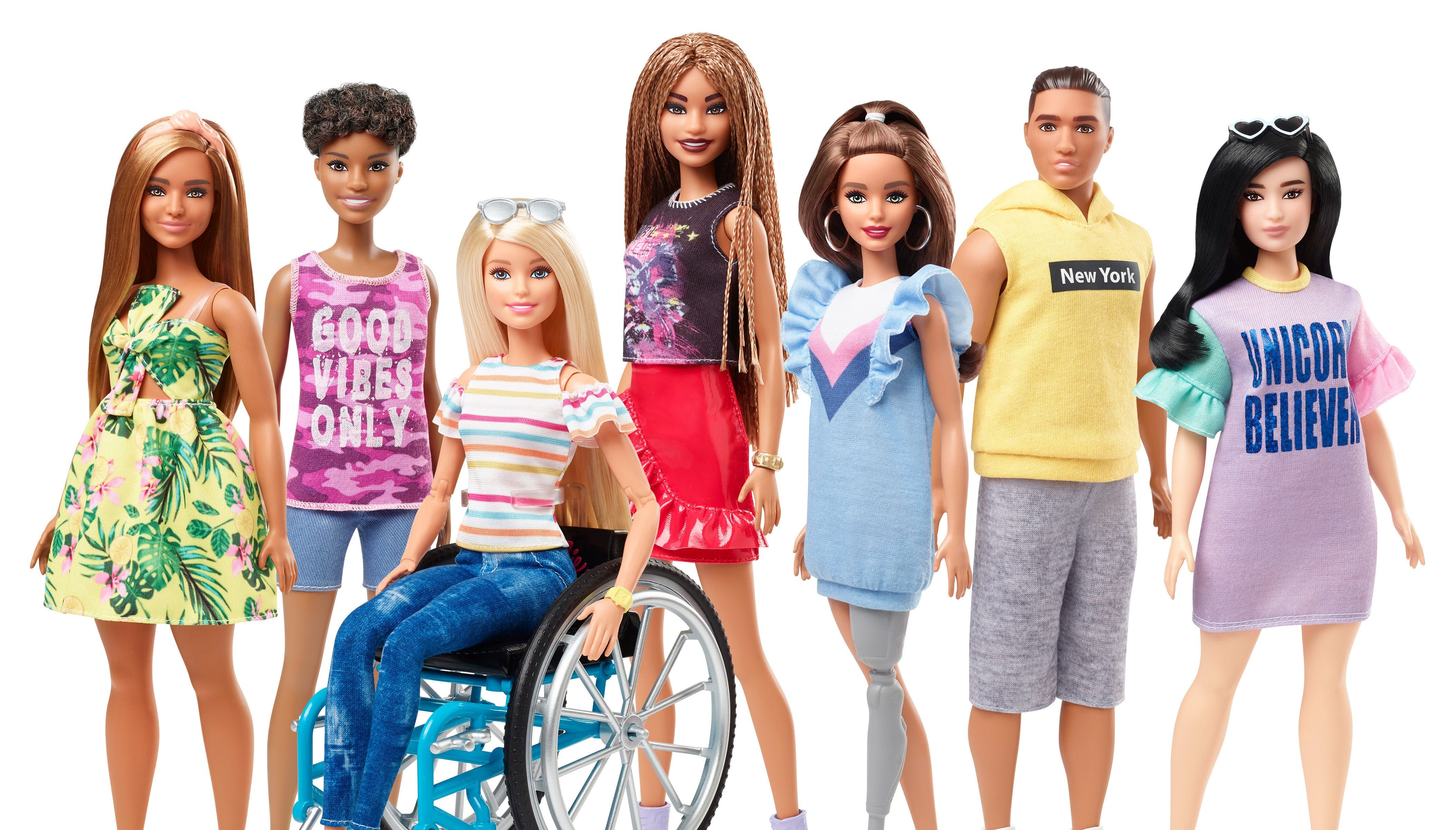 New Barbie line includes dolls that use a wheelchair, prosthetic limbs