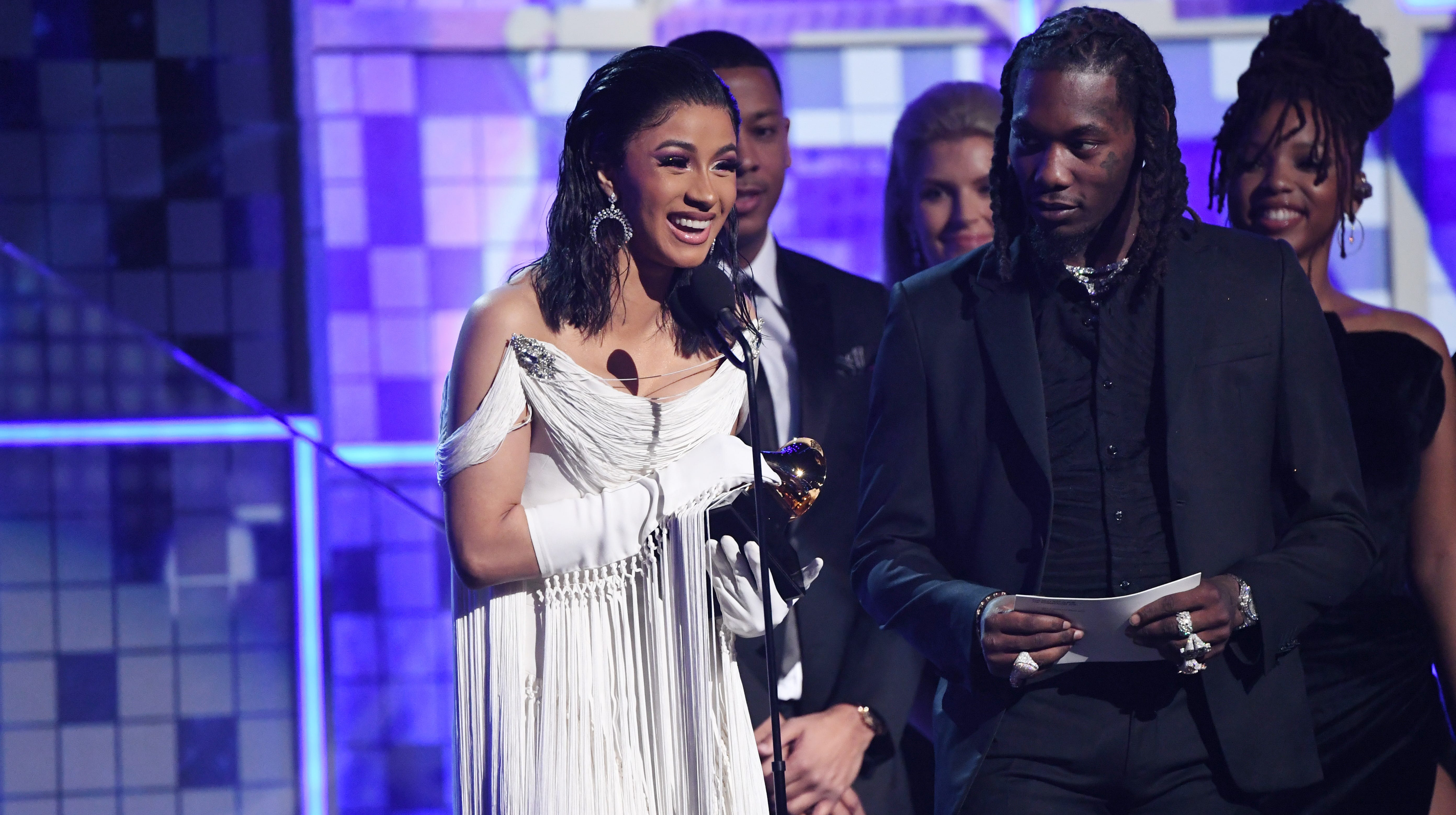 Fresh off Grammy win, Cardi B tears up at hearing daughter say 'mama' for the first time