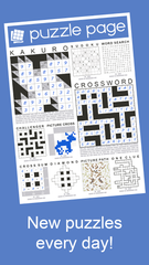 Those who love brain-teasers like crossword puzzles and Sudoku will no doubt fall for the free Puzzle Page.