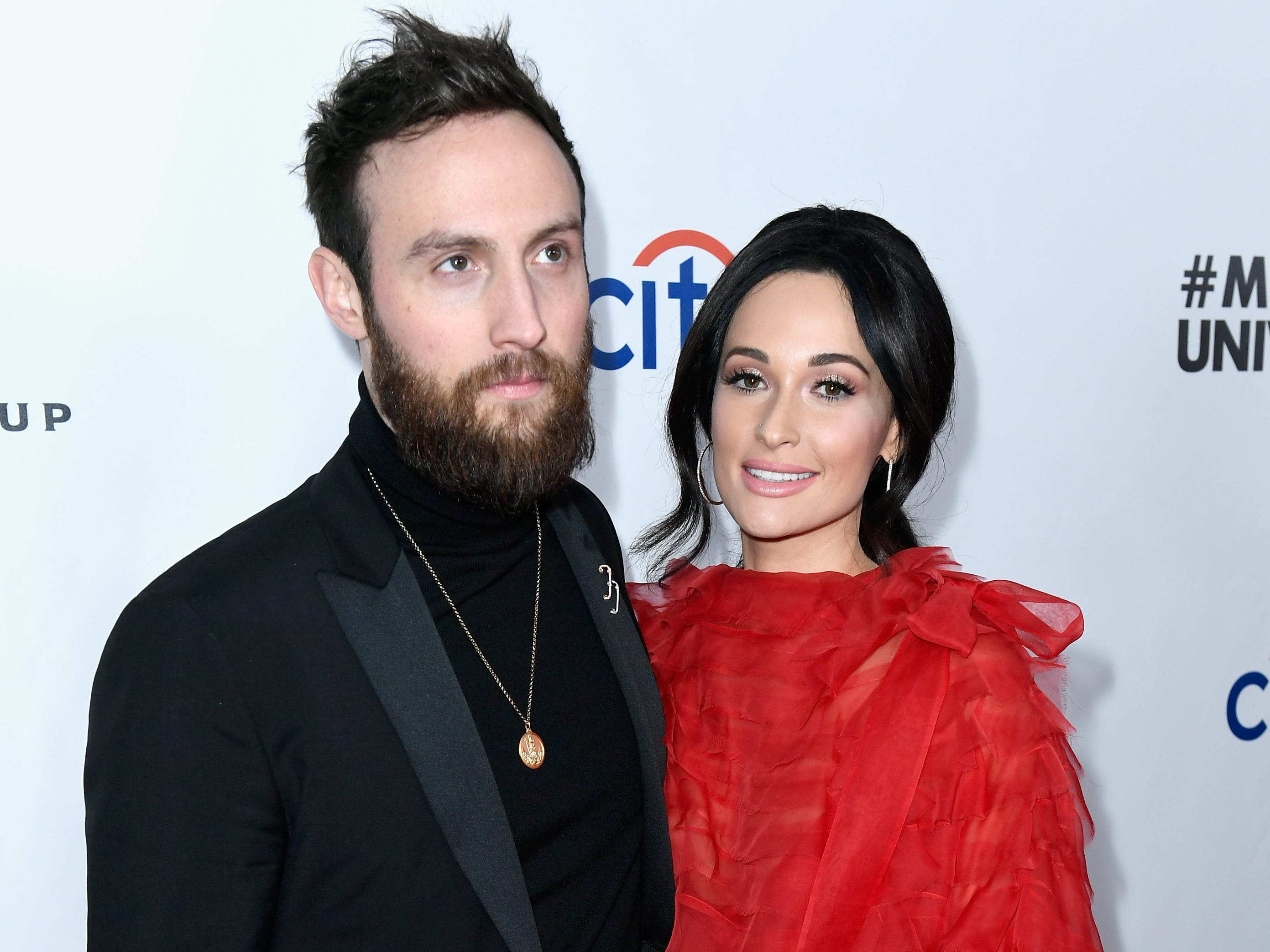 Ruston Kelly and Kacey Musgraves at Universal Music Group's Grammy 2019 after party on February 10, 2019 in Los Angeles.