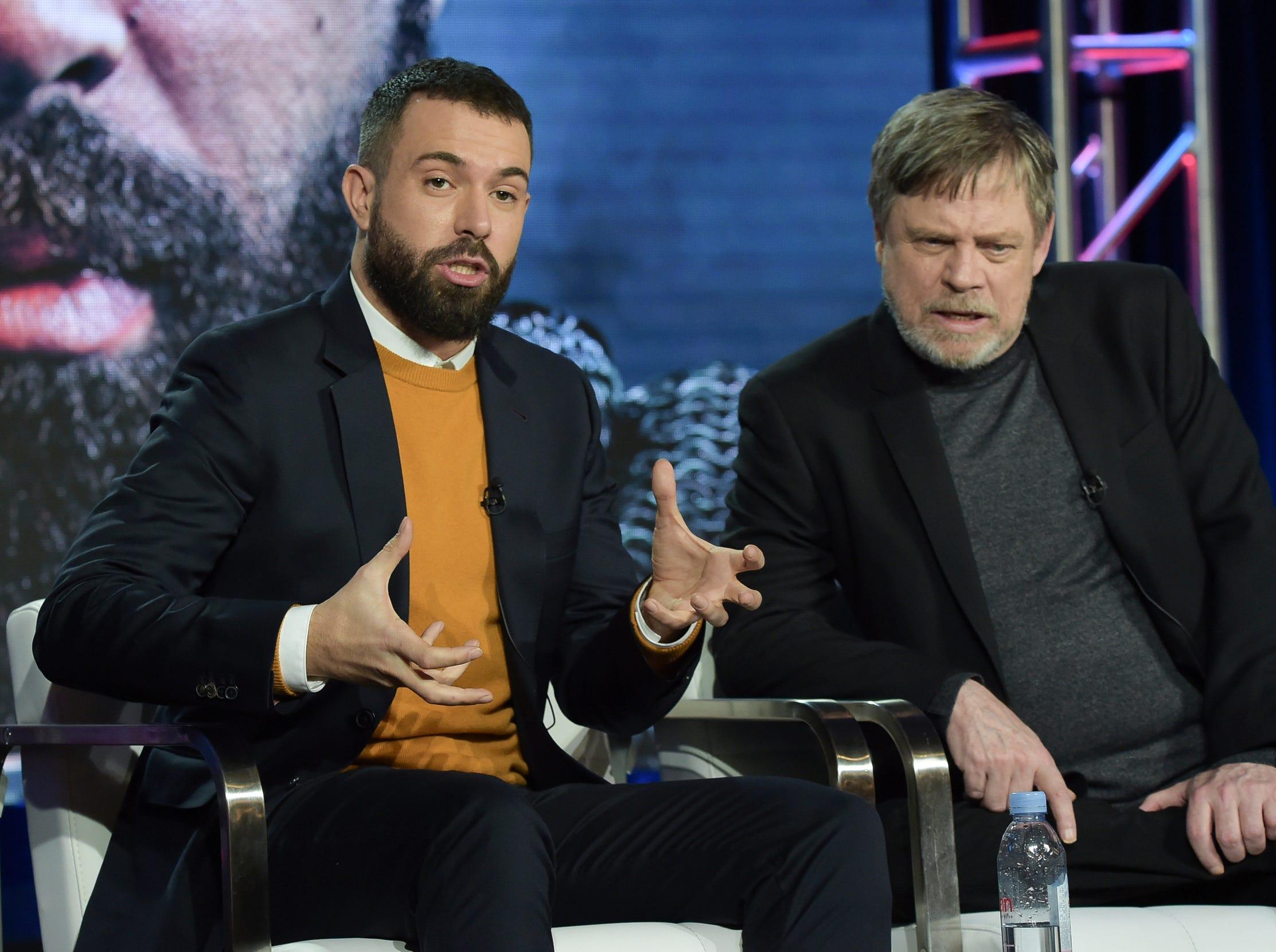 "Tom Cullen and Mark Hamill discuss the new History series ""Knightfall."""