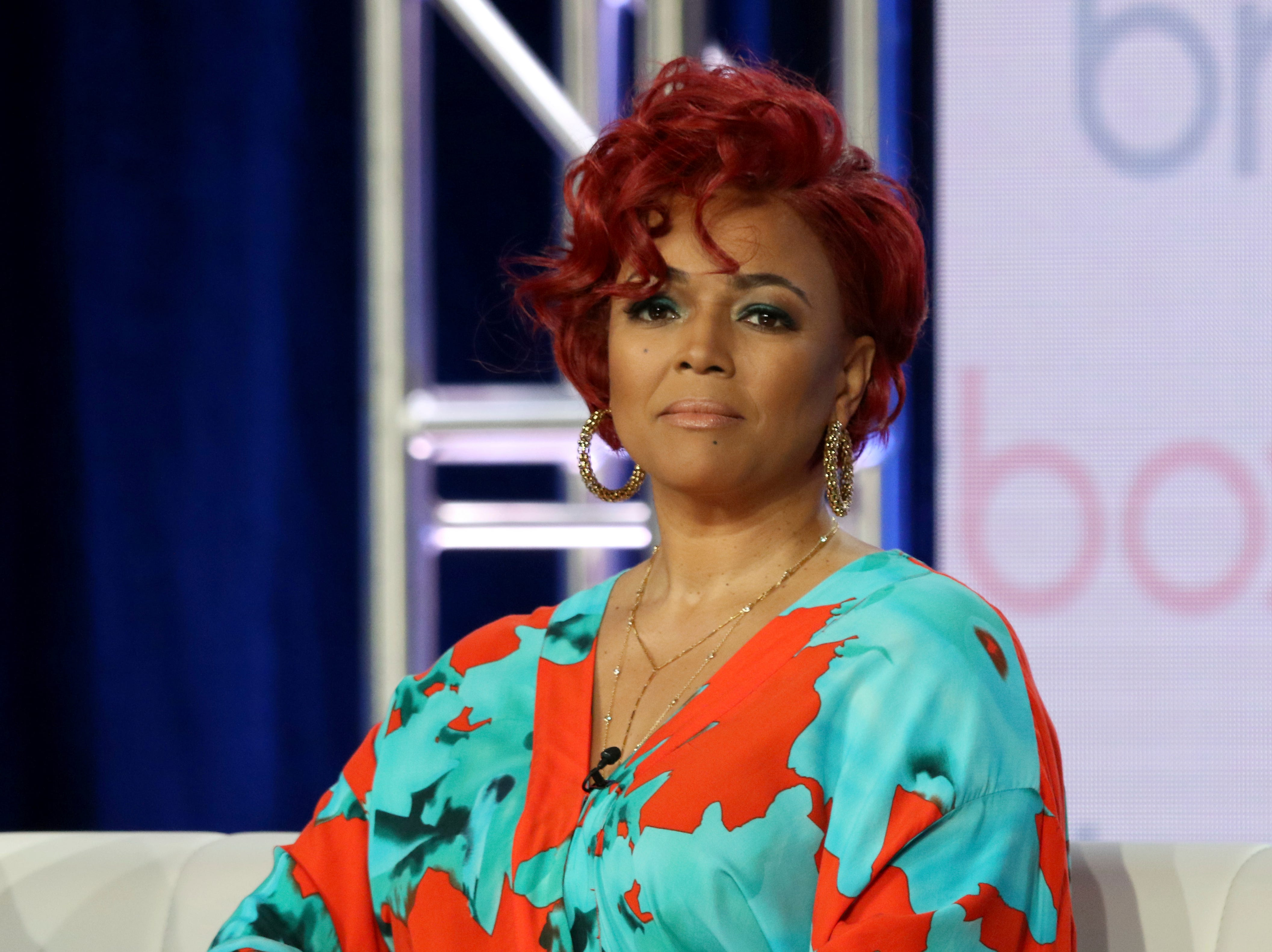 """Kim Fields takes a question about """"Living the Dream"""" for Britbox."""
